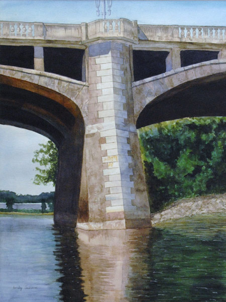 Market Street Bridge, watercolor by Emily Andrews will be on display in the Widmann Gallery at King's College. Andrews is a junior at Coughlin High School.