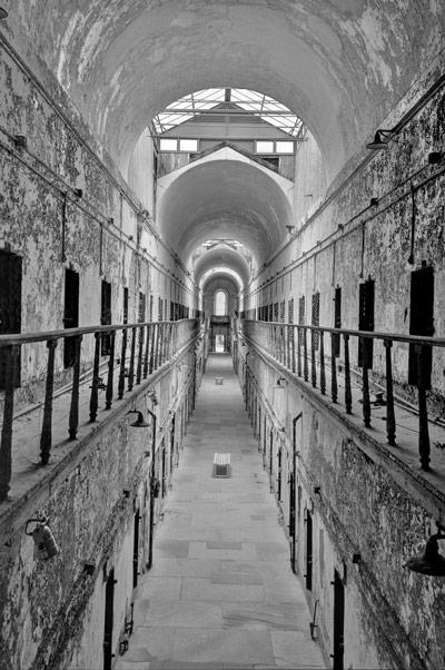 """Cell Block 5,"" photograph by Sandra Balogh taken at the Eastern State Penitentiary will be one of several images on display representing the works of the Mountaintop Photography Club during a free public exhibition in the Widmann Gallery at King's College."