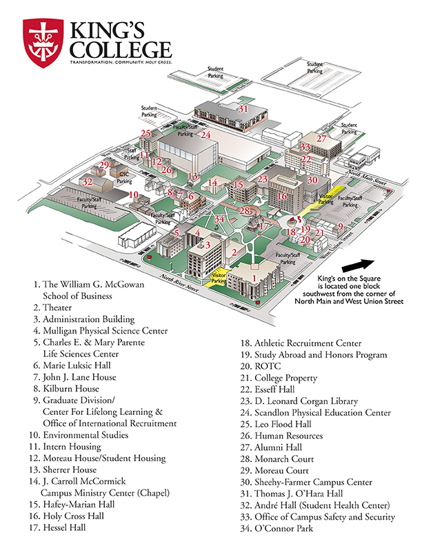 Campus Map King S College