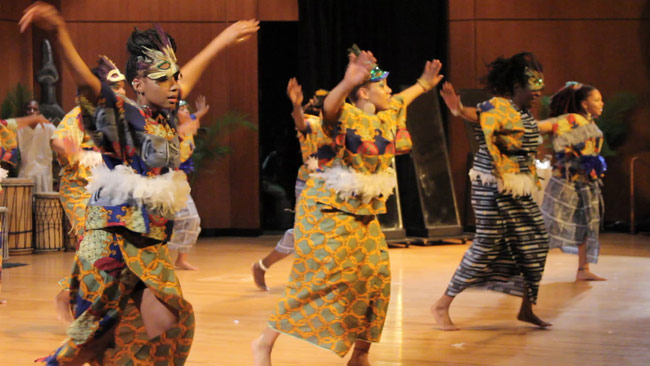 The Imani Edu-Tainers African Dance Company will perform traditional African music  and dance during a free public performance on Dec. 5 at King's College.