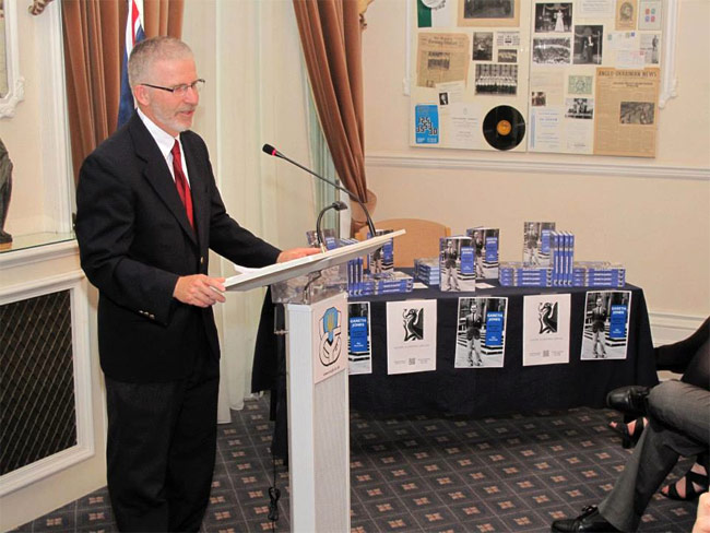 King's Assistant Professor of Mass Communications Dr. Ray Gamache  speaks at Association of Ukrainians in Great Britain.