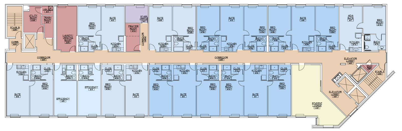 floor plans king s college king s on the square floor 6