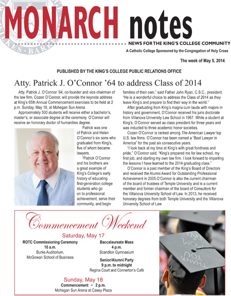 Monarch Notes - May 5, 2014