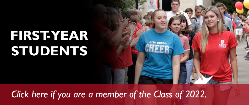 First-Year Students - Click here if you are a member of the class of 2022