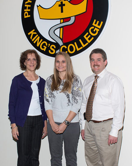 Pictured from the left is Clinical Coordinator and Associate Clinical Professor Jocelyn Hook, Jaclyn Beck, and Clinical Director and Associate Clinical Professor William Reynolds.