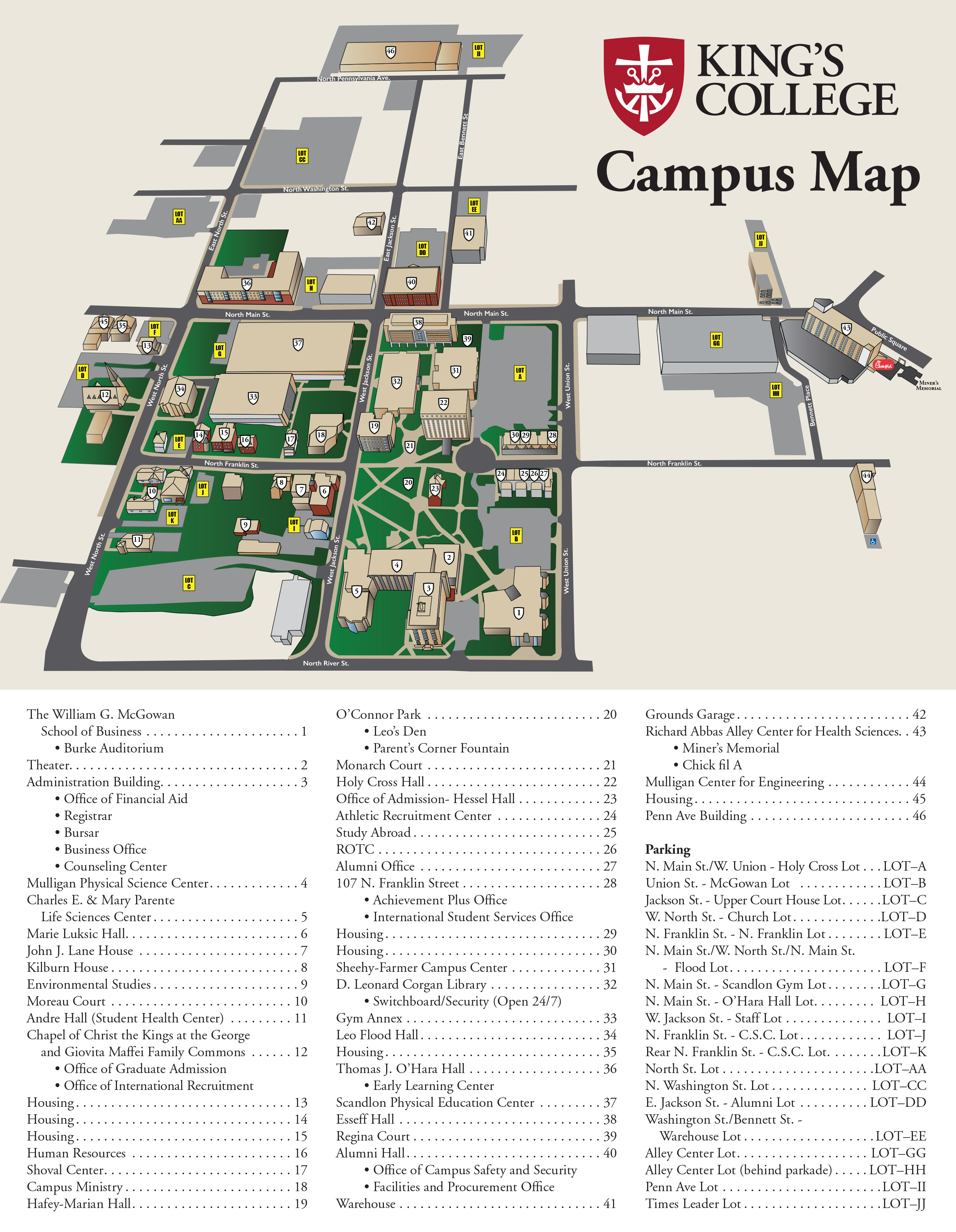 King's College - Campus Map