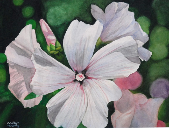 Blossom Ballet, watercolor by Caitlyn McHenry will be on display in the Widmann Gallery at King's College. McHenry is a ninth grade student at Greater Nanticoke Area High School.