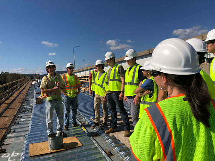 Civil Engineering Students Visit 309 Ramp Project