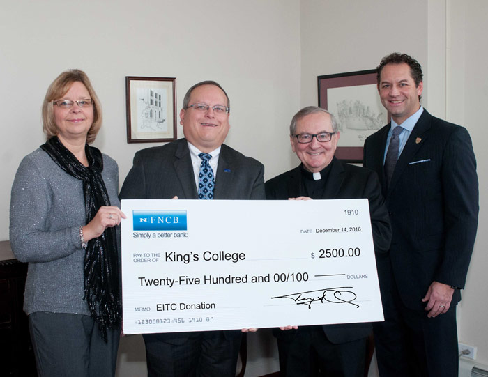 FNCB Donates EITC Proceeds to King's College