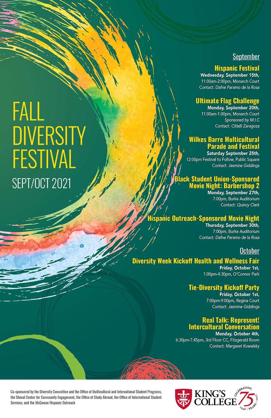fall diversity festival flyer