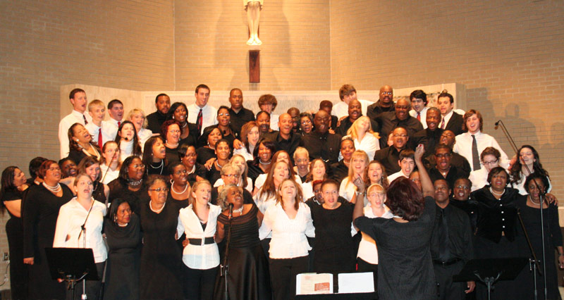 Saint Bernardine's Gospel Choir will perform at 7 p.m. on Saturday, Oct. 28, and during the 11 a.m. liturgy on Sunday, Oct. 29, at King's College