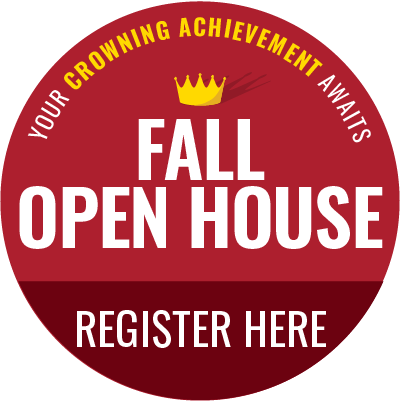 Register for our Fall Open House.