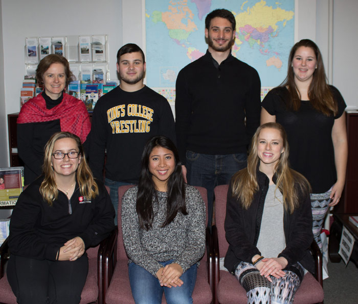 King's students will study abroad during the spring semester
