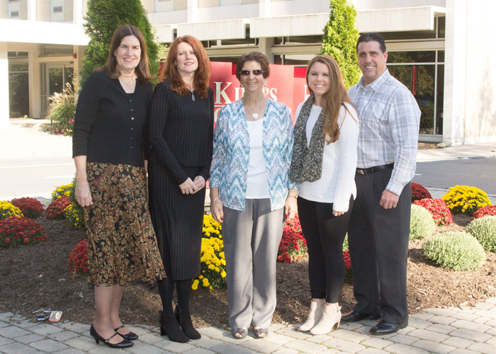 Pictured, from left, is Ann Marie Durako, member of the selection committee; Patti Prociak, president of the Colleen Shea Children's Foundation; Nancy Shea, mother of Colleen; Elizabeth Scialpi, scholarship recipient; and her father, Ken Scialpi.