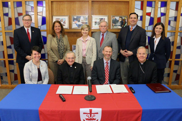 Under MOU with Diocese of Scranton, King's College to Grant Admission and Annual Scholarships to Students from Four Catholic High Schools