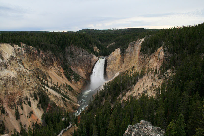 """Upper Yellowstone Falls,"" photograph by Katie Senunas will be on display in a free public exhibition in the Widmann Gallery at King's College."
