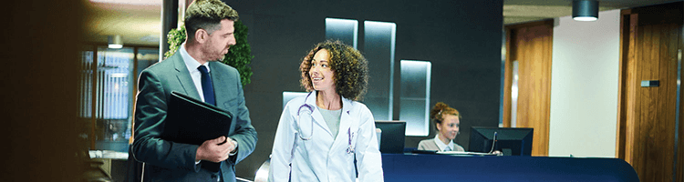 Earn your Masters degree in Healthcare Administration.