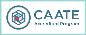 CAATE accredited logo