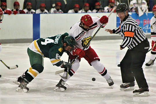 A photograph of King's men's hockey teams inaugural game by freshman Nate Holtzinger of York will be one of several creative works by King's students on display during the annual Mass Communications Student Exhibit from May 7-25 in the Widmann Gallery