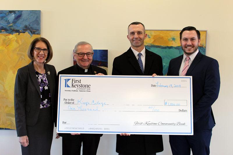 First Keystone Community Bank Donates EITC Proceeds in support of King's College's Pre-Kindergarten Scholarship Program