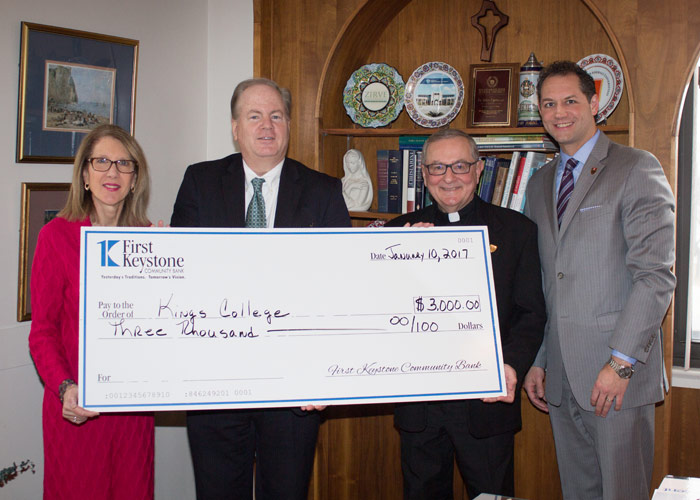 First Keystone Community Bank Makes EITC Donation to Two King's College Programs