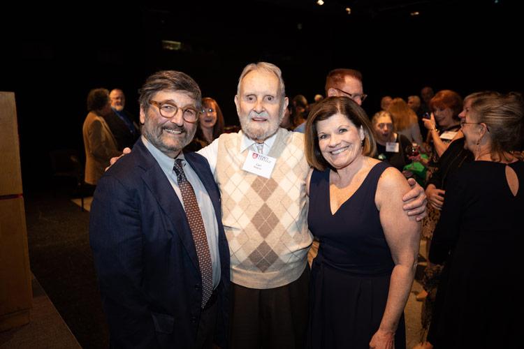 Santo Loquasto '66, Carl E. Wagner, and M. Sheileen Godwin '83